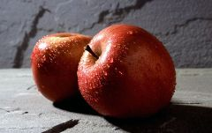 Fuji apples are most popular.