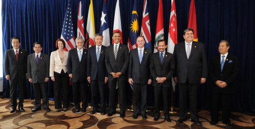 Leaders of TPP member states. Picture by Gobierno de Chile