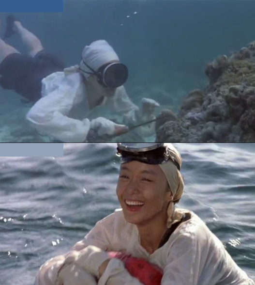 "Pictures from the Korean movie ""My mother, the mermaid""."