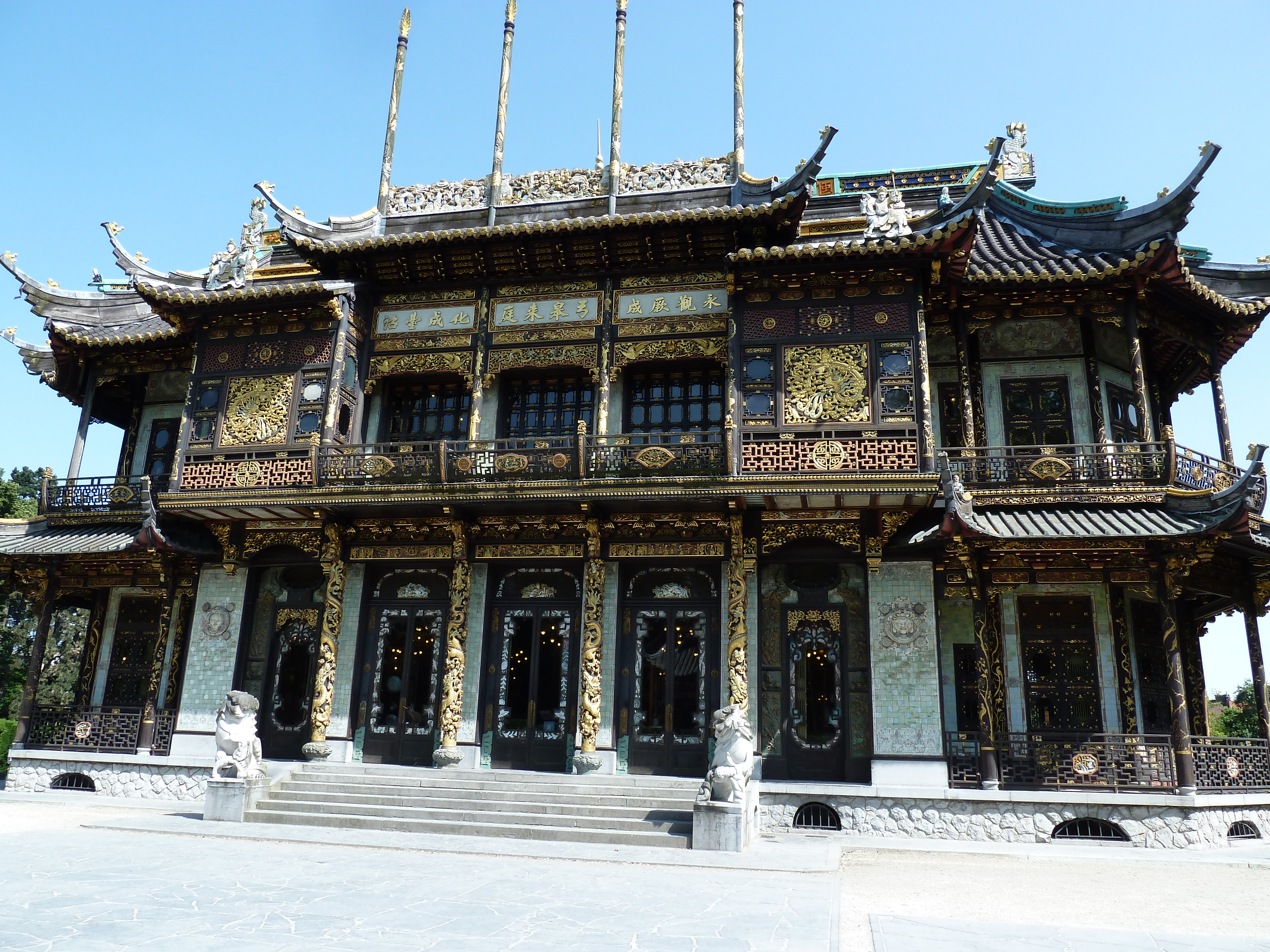 japanese chinese museum architecture buildings pagoda east brussels far garden nippaku porcelain were