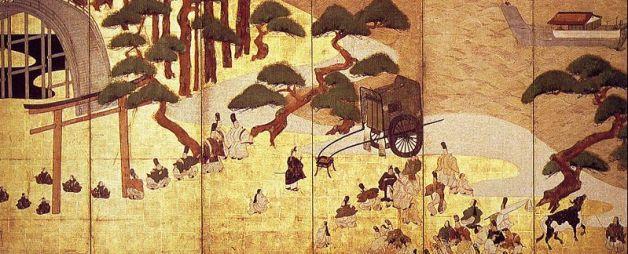 Genji traveling.