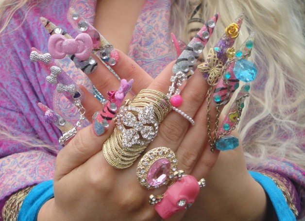 nail art gyaru