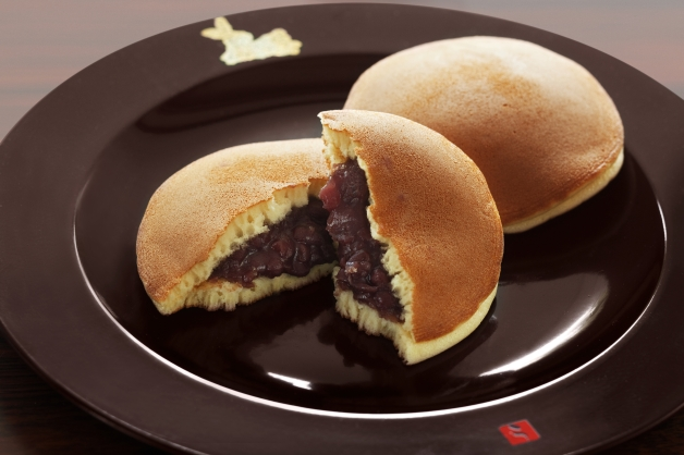Dorayaki - Doraemon's favorite snack - is bread filled with sweet bean paste.