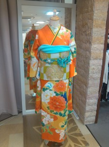 Kimono photographed at the trendy shop Tokyo 135°