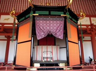Imperial throne of the Heijo palace, Nara