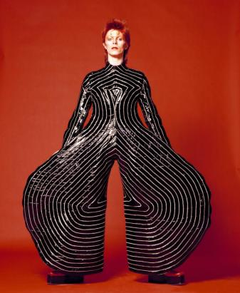 David Bowie in a Kansai Yamamoto creation - photographed Masayoshi Sukita © Groninger Museum, V&A Museum
